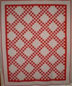 Double Irish Chain quilt